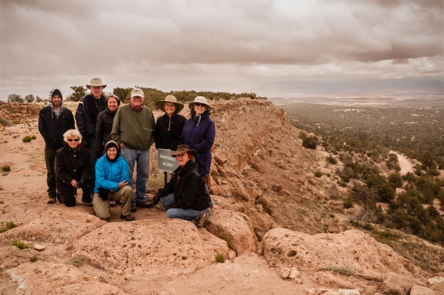 Group Photo Puye Cliff Dwellings