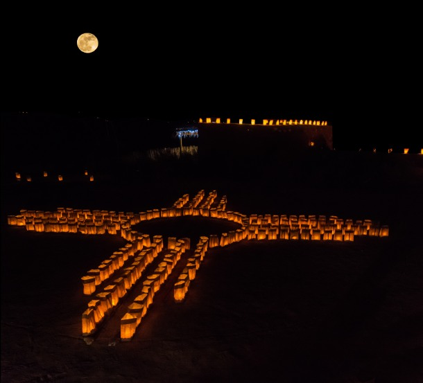 Lights of Kuaua 2014 Zia Luminarias