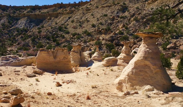 Upper area hoodoos