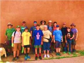 Boy Scouts at Coronado Historic Site