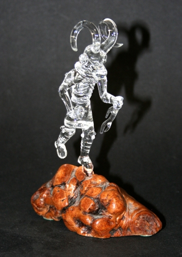 Glass Ram Katsina Figure